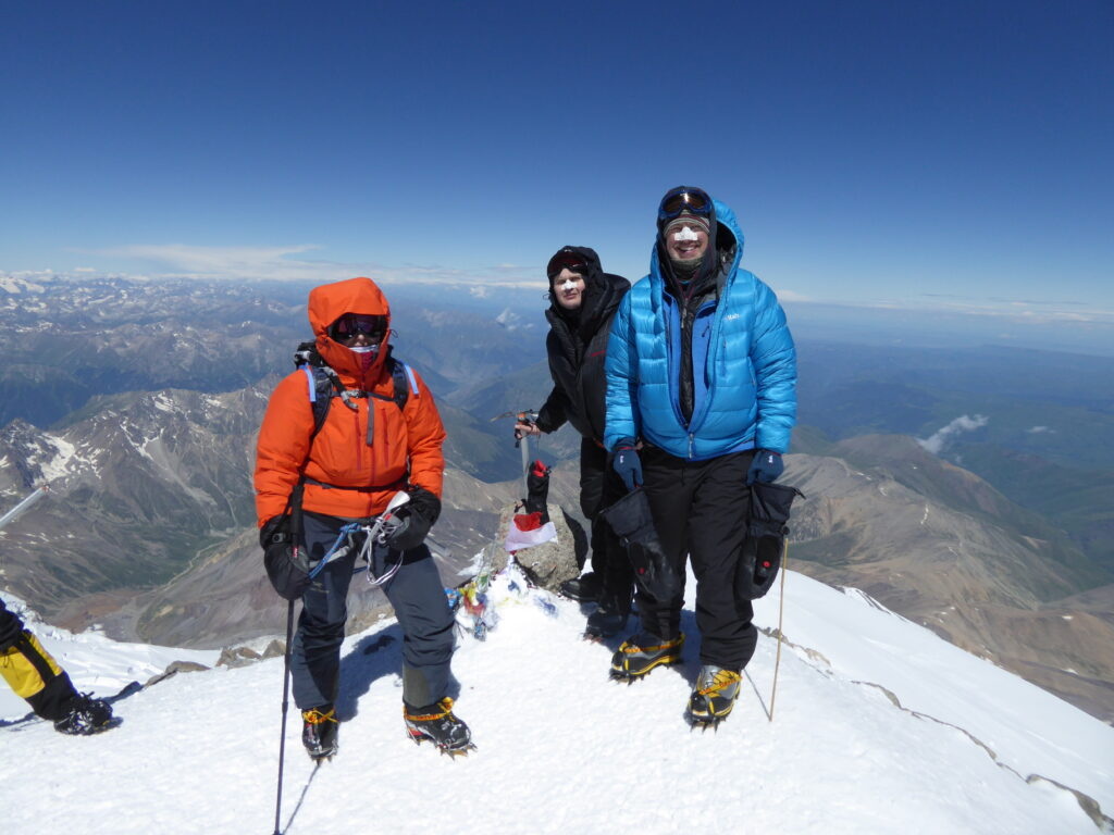 On the summit of Mount Elbrus