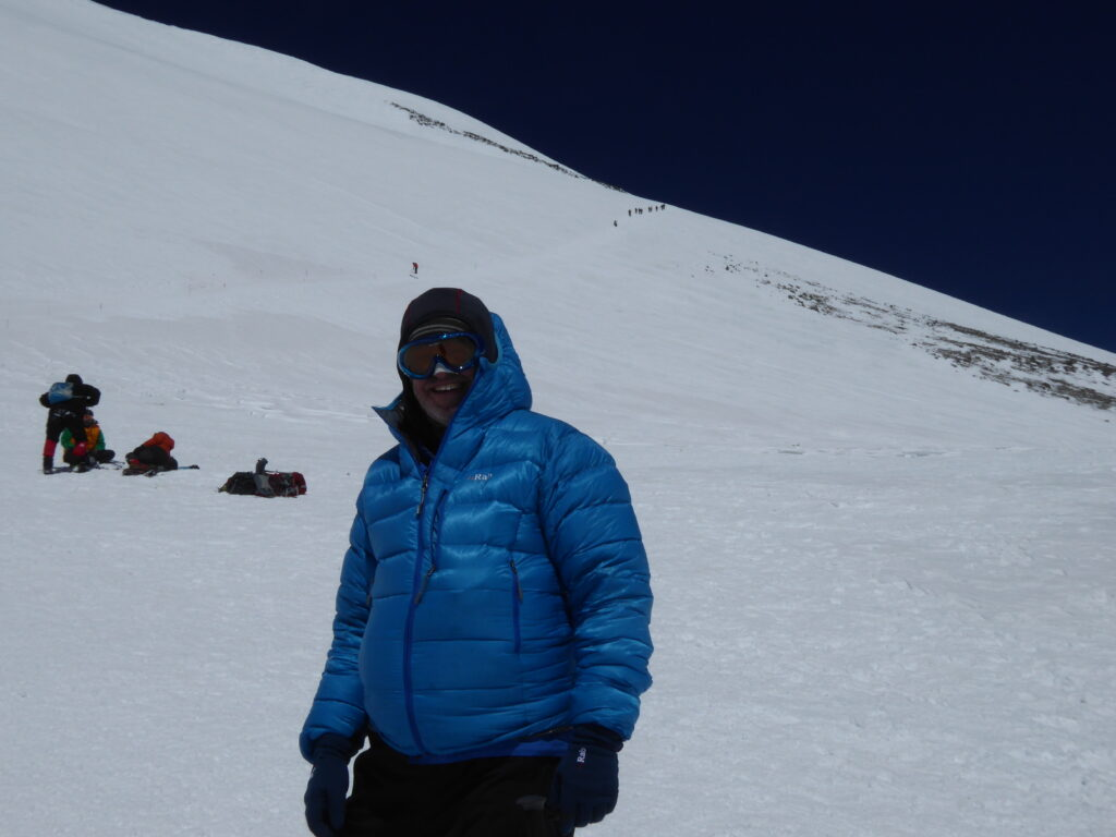 Back at the Saddle on Mount Elbrus