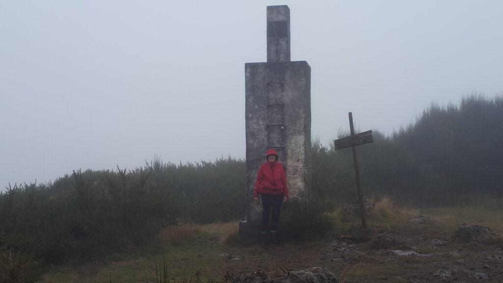Julie on the summit of Pico Ruivo do Paul da Serra